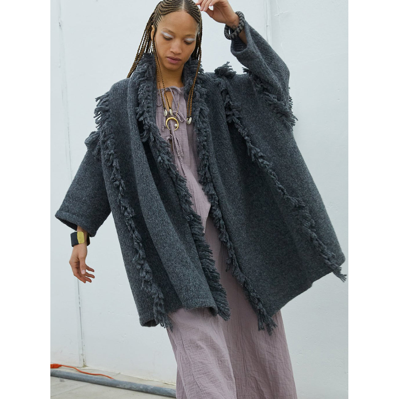 haori coat with fringes