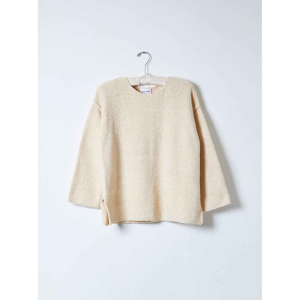 long sleeve playa top in cream