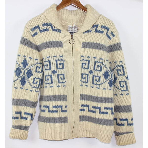 Baby Blue and Ivory Big Lebowski Cowichan Sweater