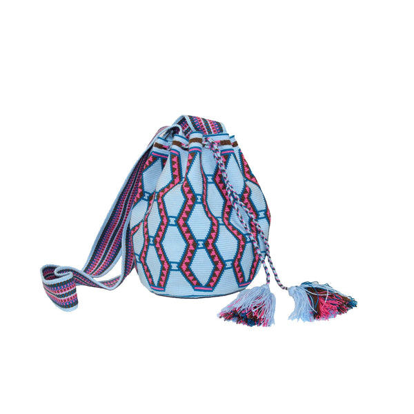 Powder Blue Large Wayuu Bag