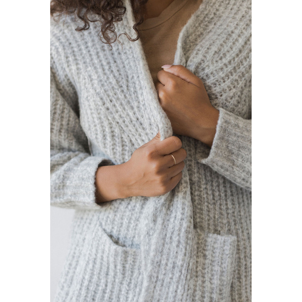 marine cardigan in cloud