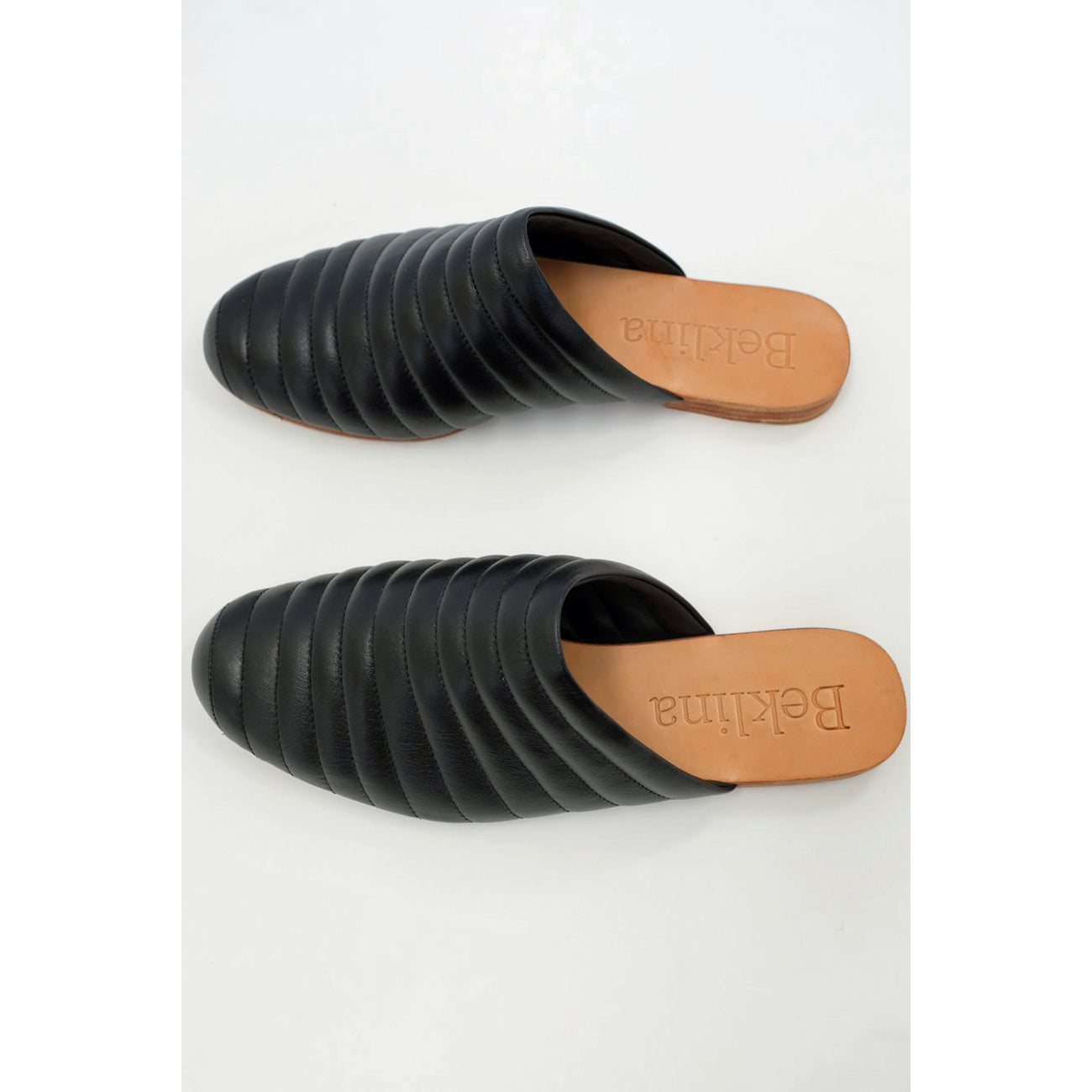 ribbed flats in black