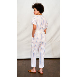 brooke jumpsuit in multi stripe