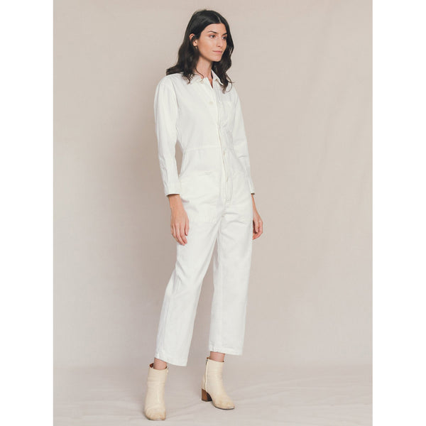 Bliss and Mischief Long Flight Suit in Ivory