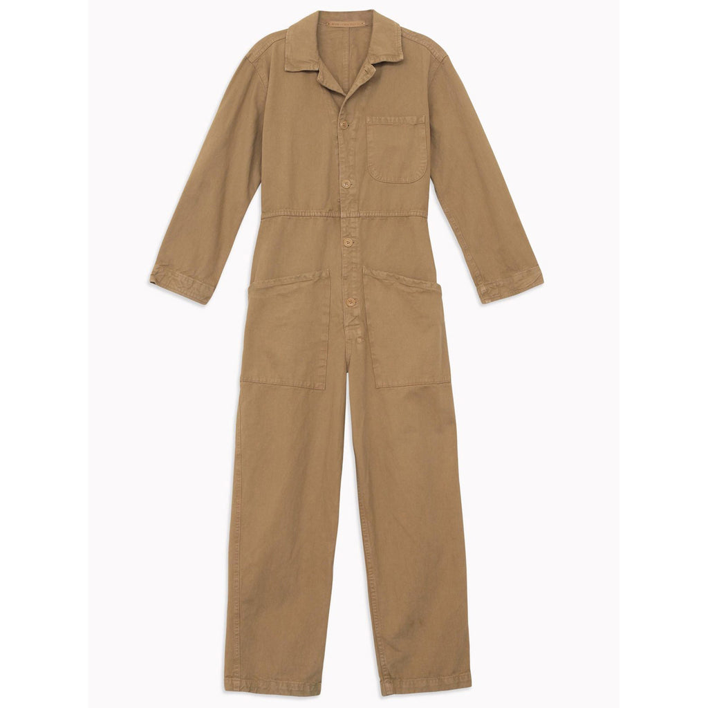 long flight suit in khaki