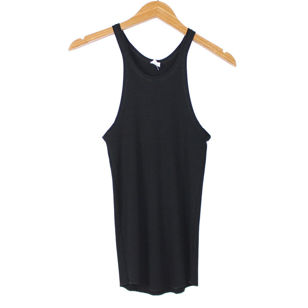 Bliss and Mischief Rib Slim Tank in Black