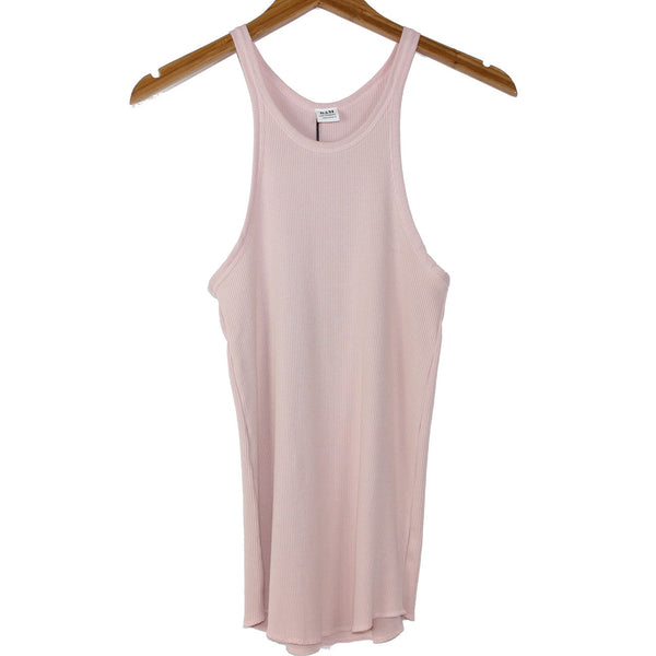 Bliss and Mischief Rib Slim Tank in Rose