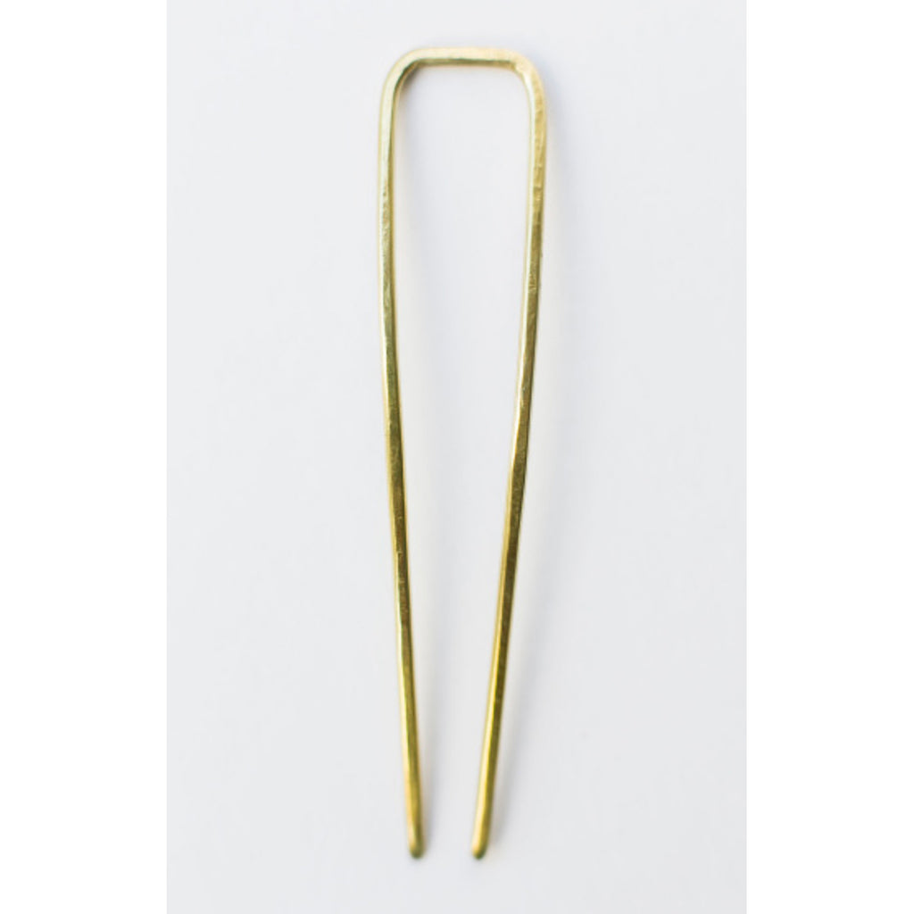 brass mesa hair pin