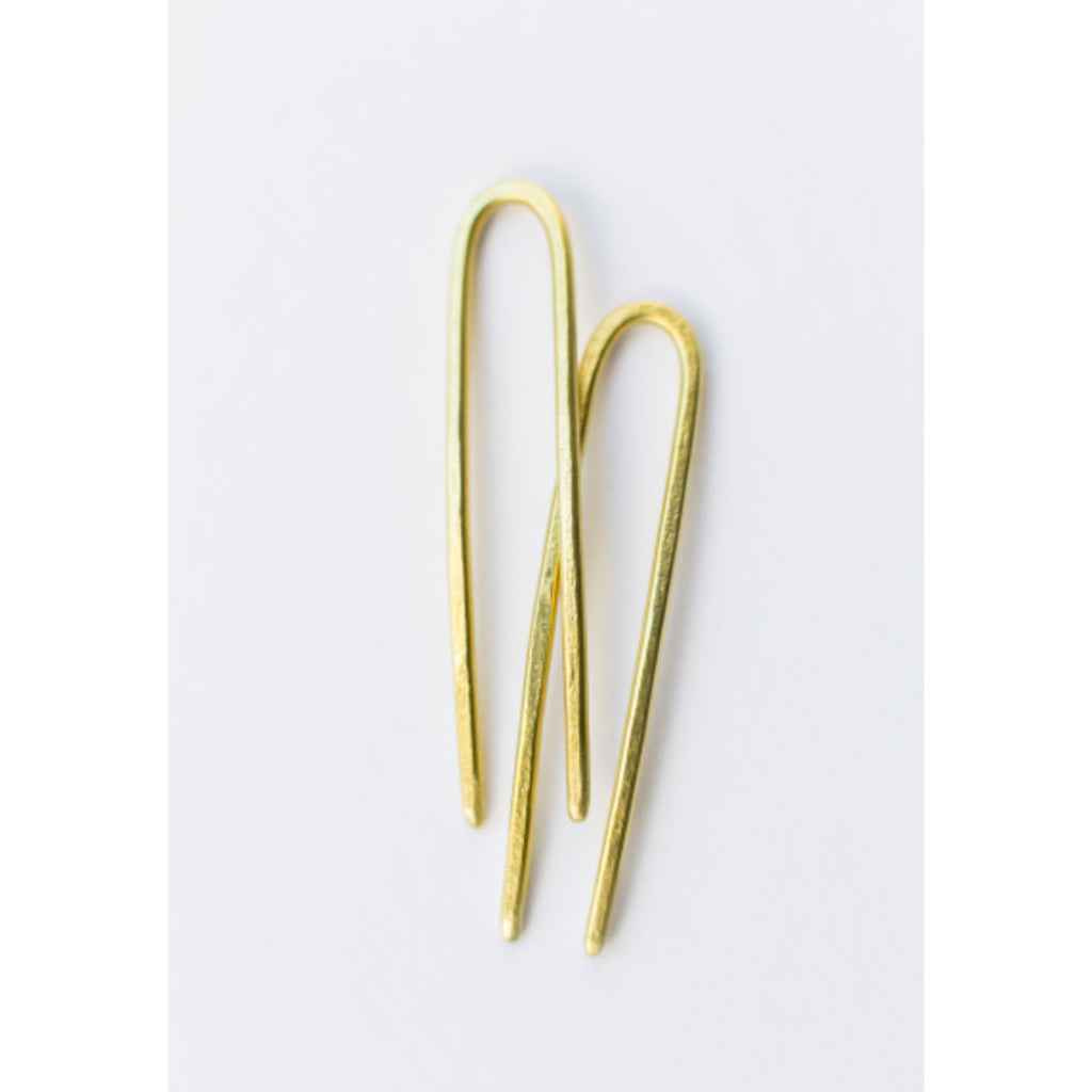 brass tiny duo hair pins