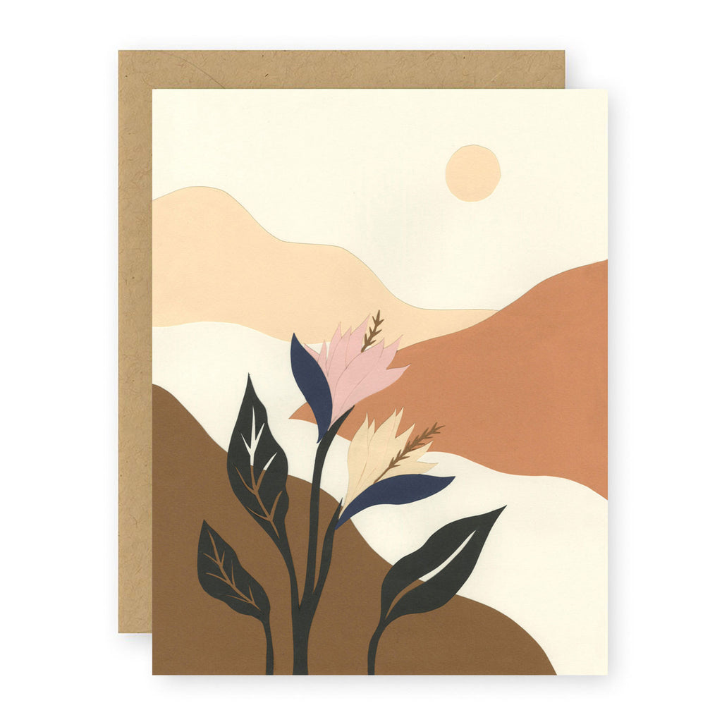 a walk in the valley card