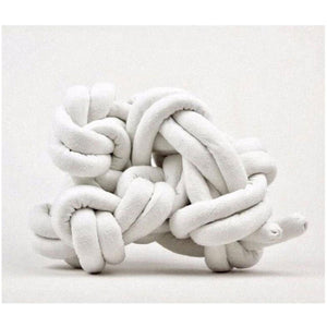 knot pillow in ivory