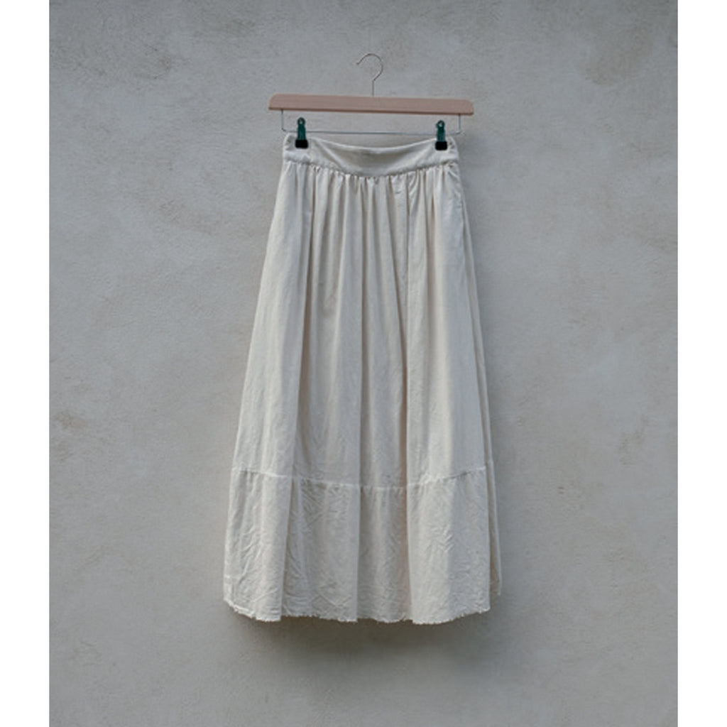 drapé skirt in ecru