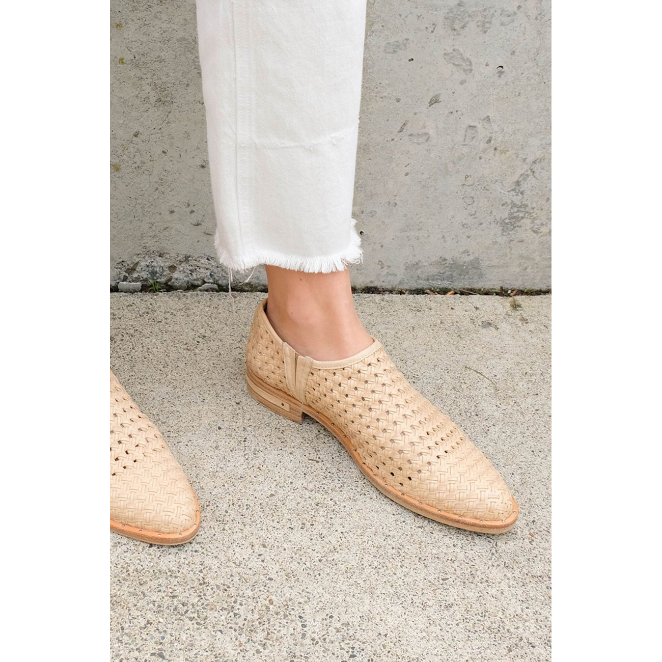 dawn woven loafer in nude