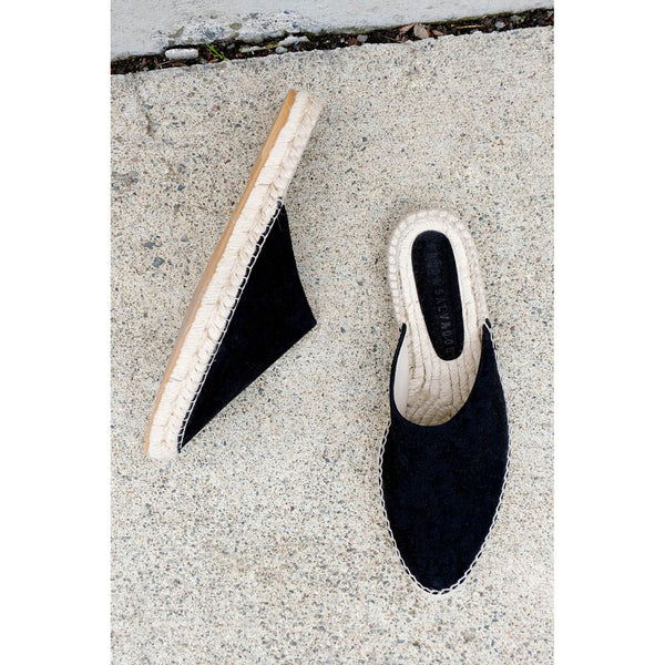 Freda Salvador Ziggy Espadrille in Black