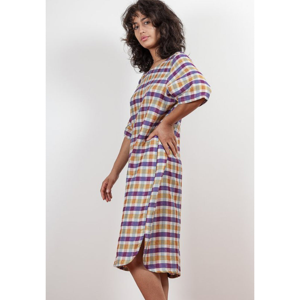 anim dress in plaid