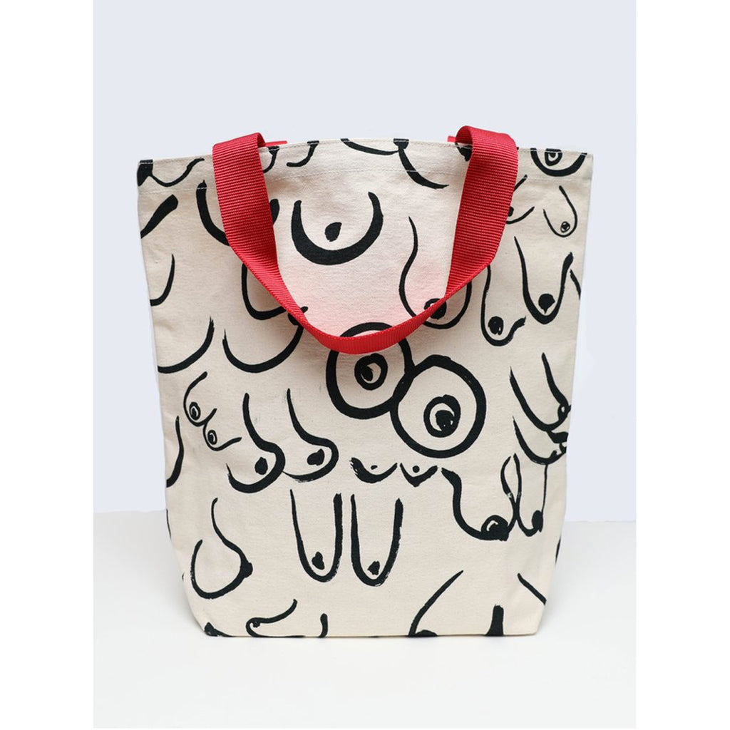 boobs tote in white
