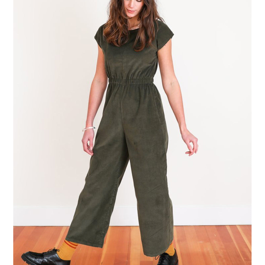 rush jumpsuit in sea grass