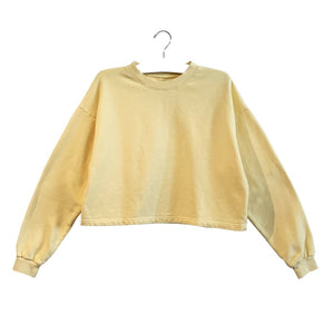 chloe crop sweatshirt in butter