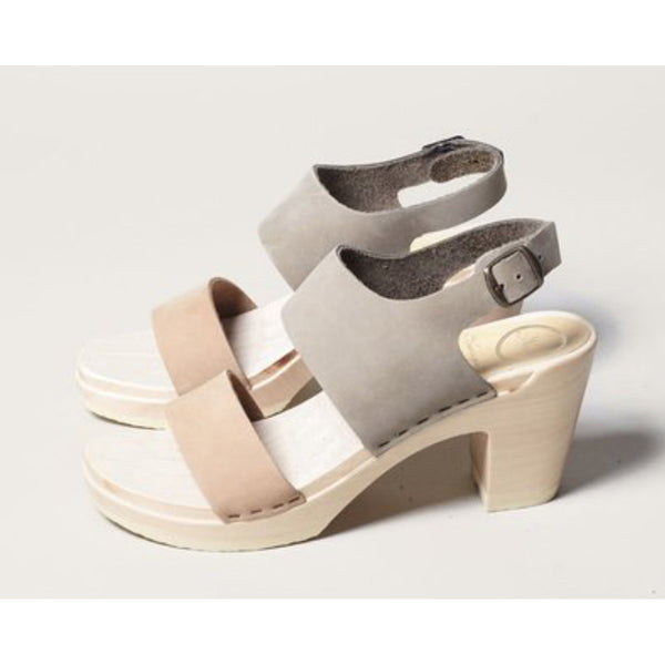 No.6 Harper Clog in Cement/Mocha