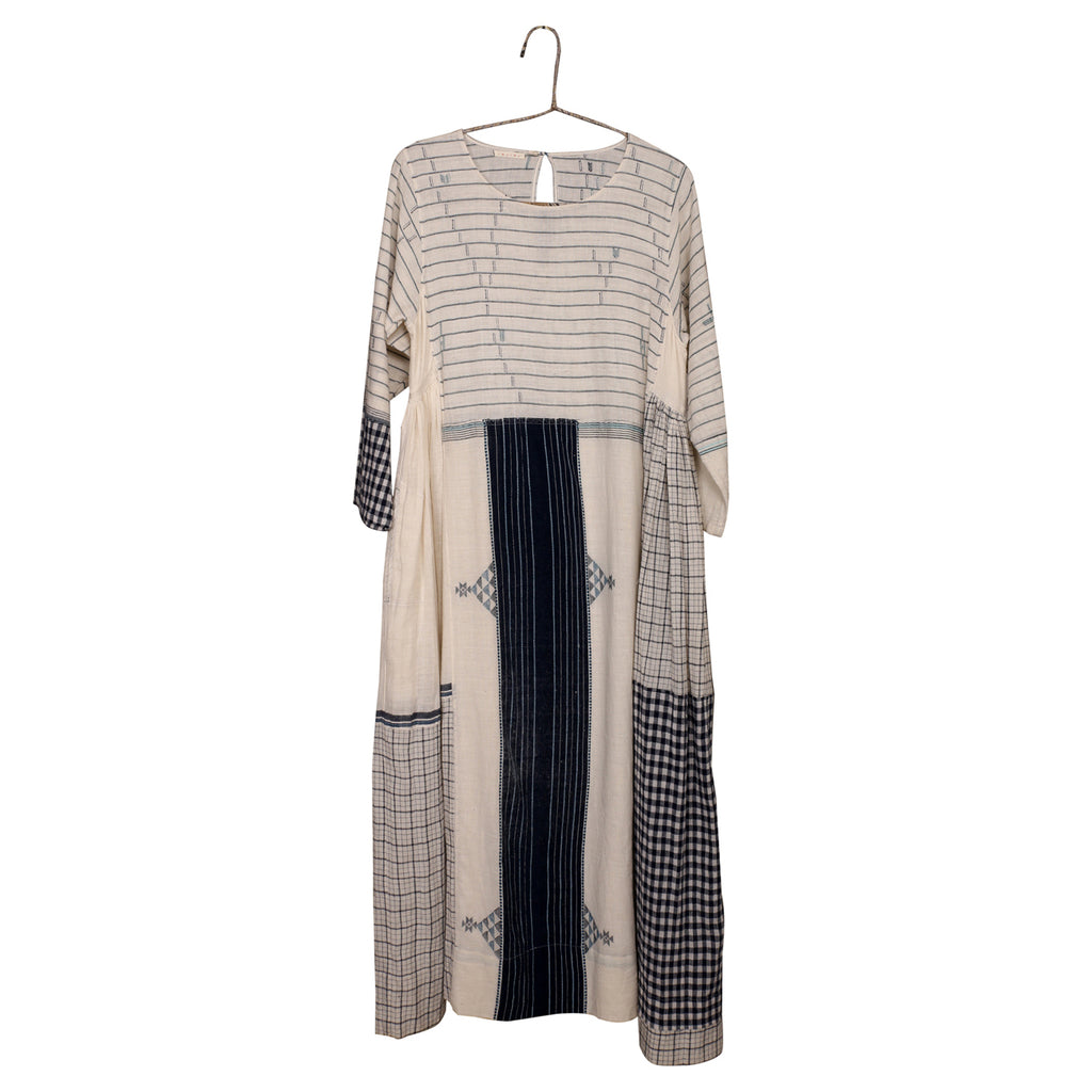 handwoven organic cotton patchwork dress