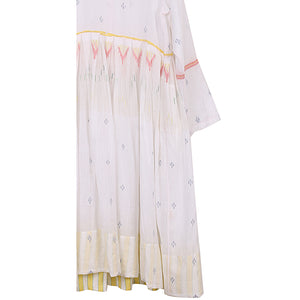 handwoven dress in white