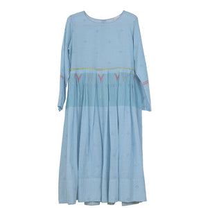 handwoven dress in blue