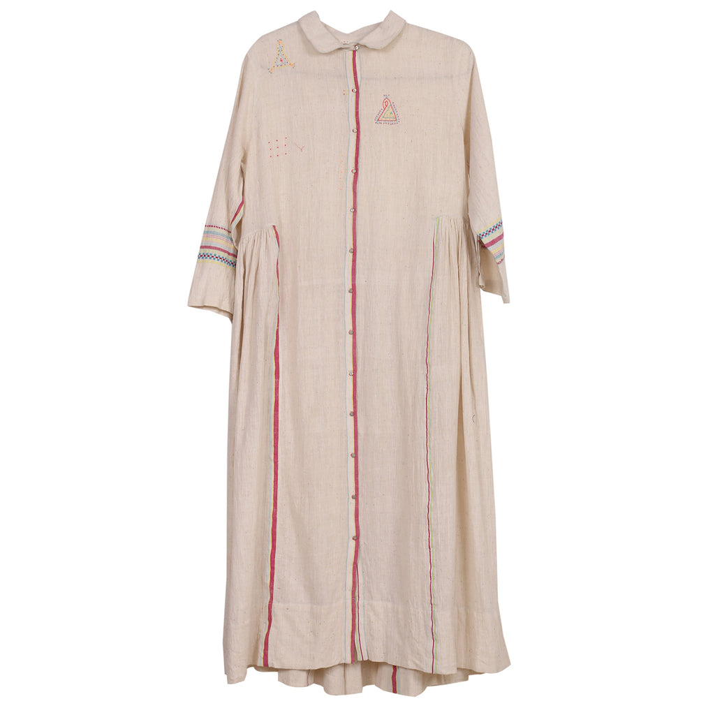 handwoven button-up dress