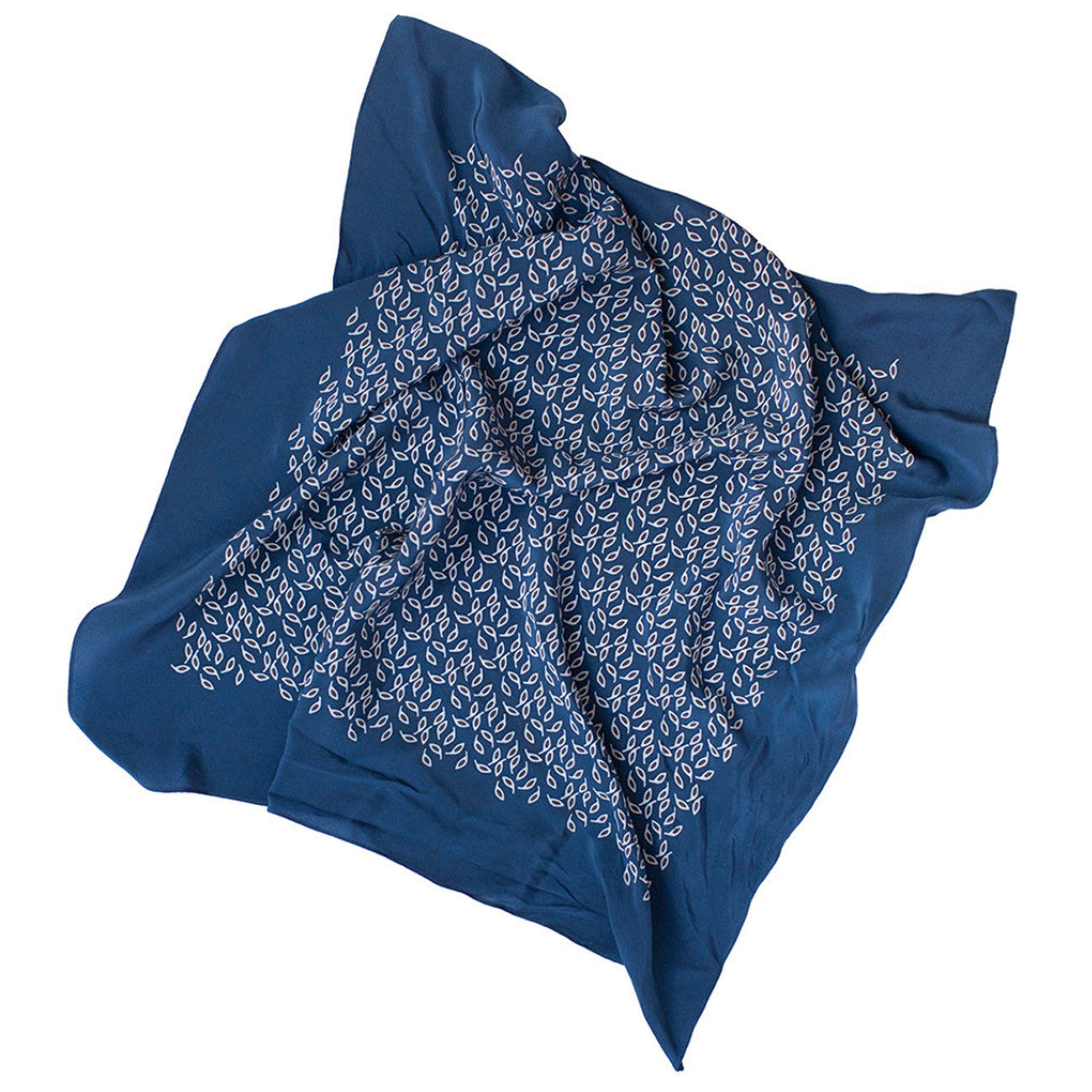 Janessa Leone Printed Silk Scarf in Navy