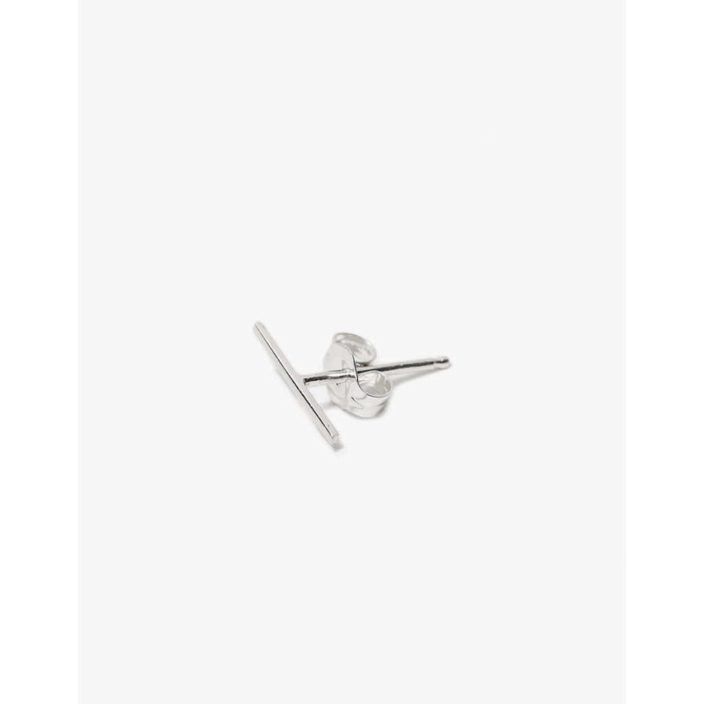 long staple stud in sterling silver
