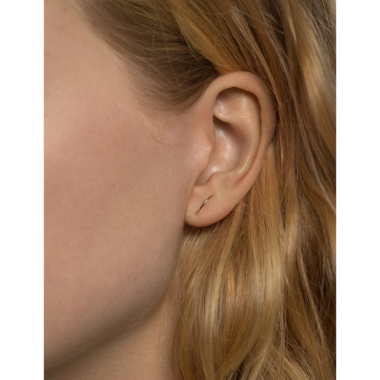 Kathleen Whitaker Stitch Earring in 14k Gold