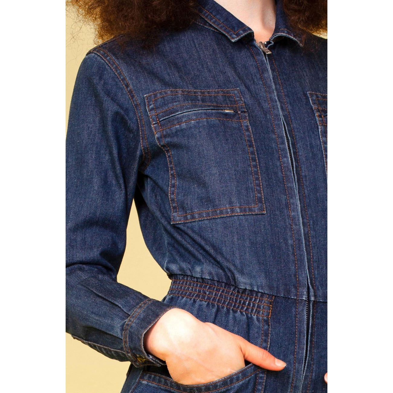 danny boilersuit in indigo denim
