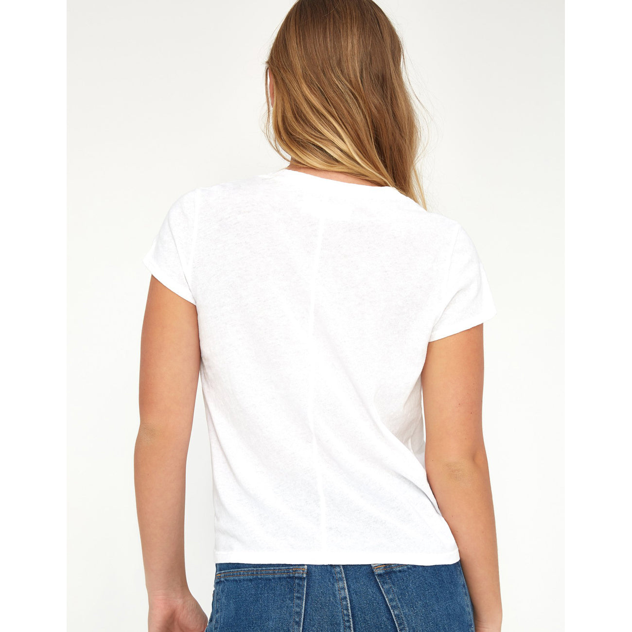 luxe frank tee in whitewash