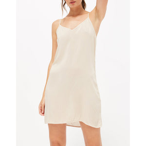 v-neck slip in biscuit