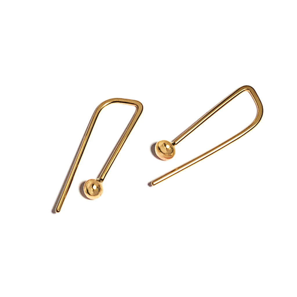 drip earring in 14k gold