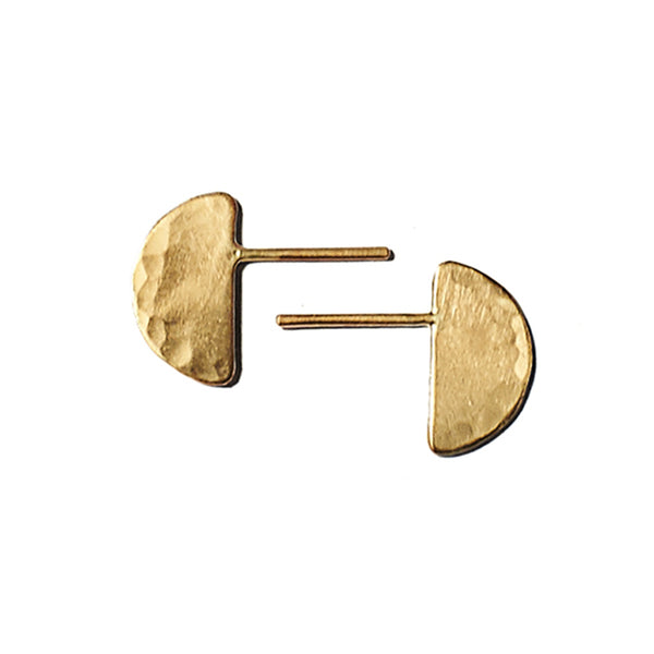Lila Rice Hemisphere Studs in 10k Gold