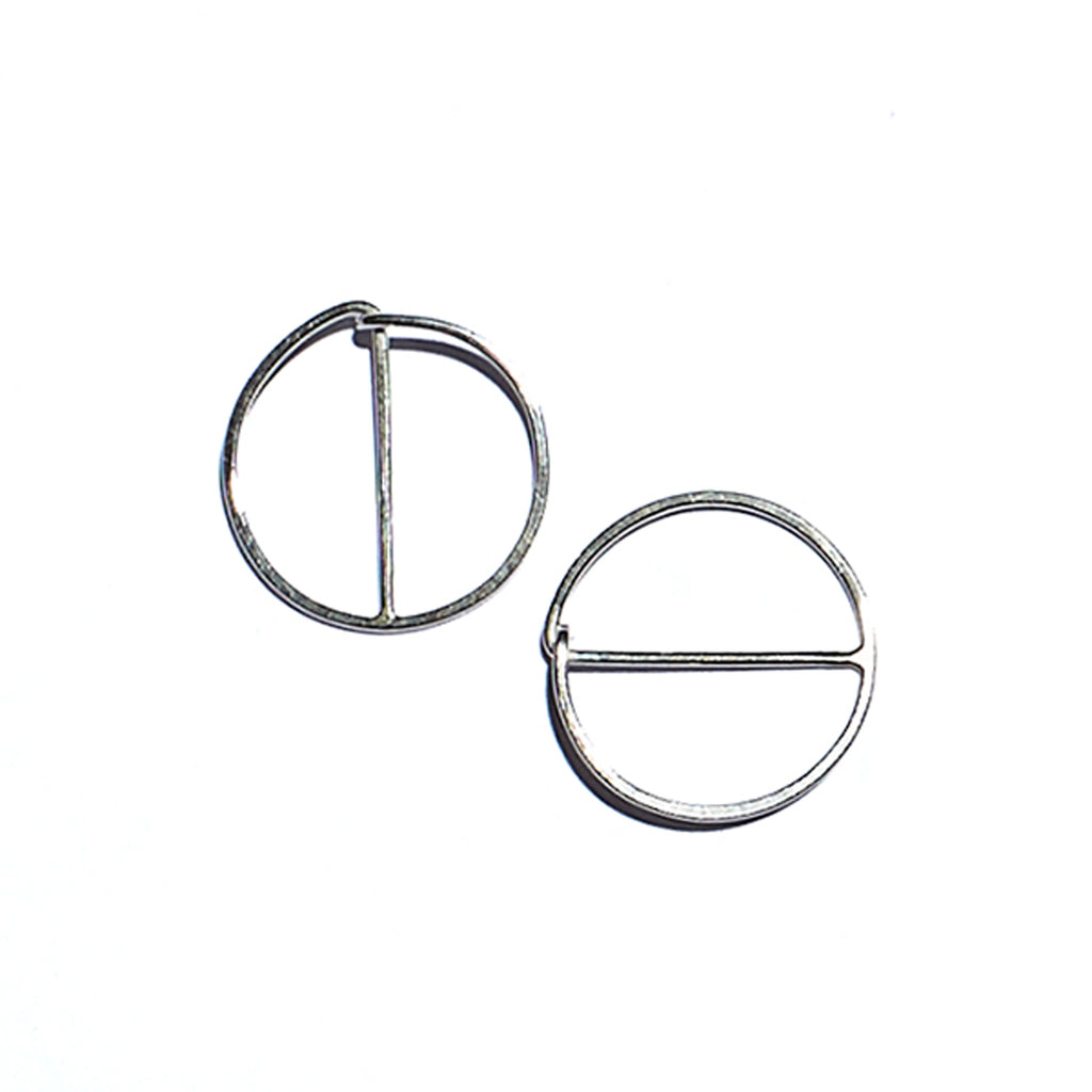 e-hoops in sterling silver