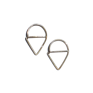 point hoops in 14k gold