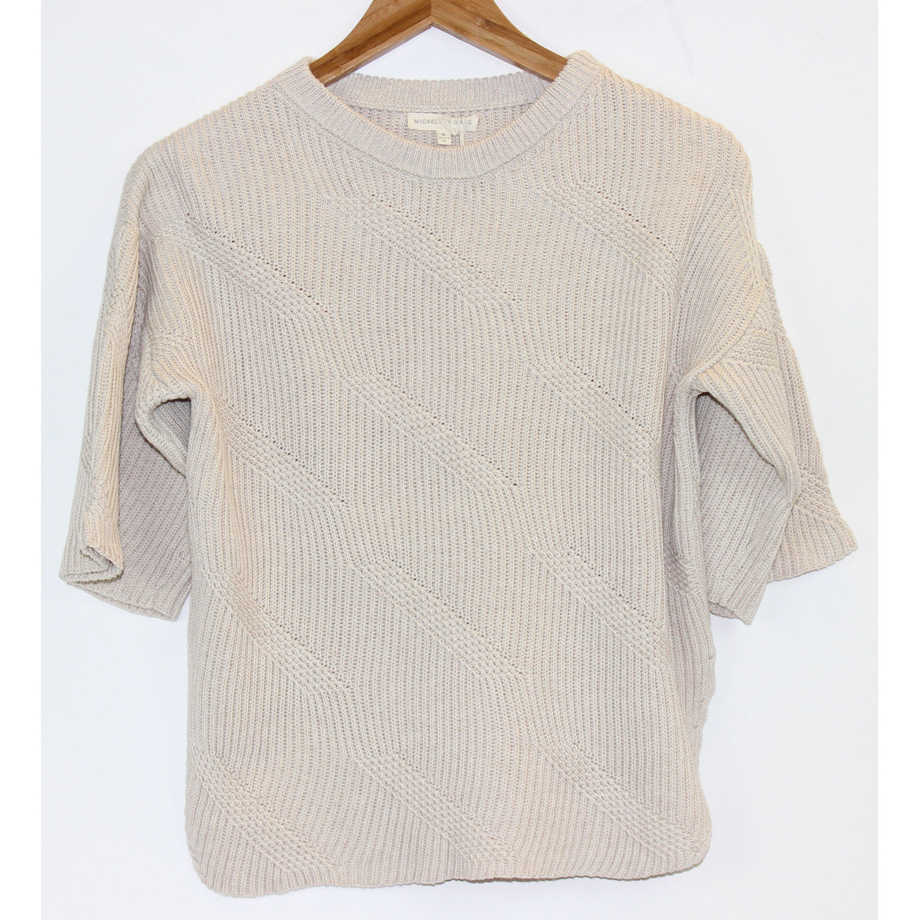 Micaela Greg Dash Sweater in Cream