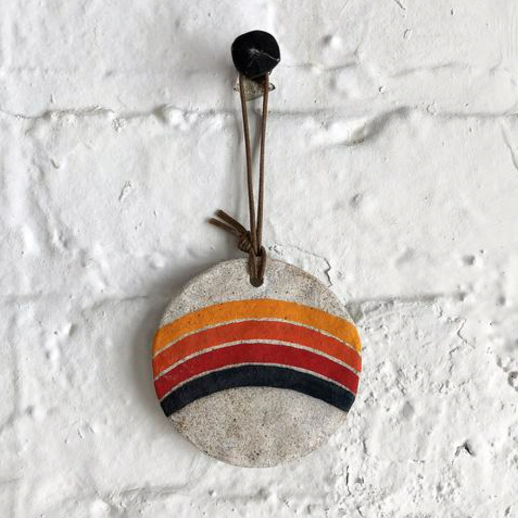 rainbow rings ornament