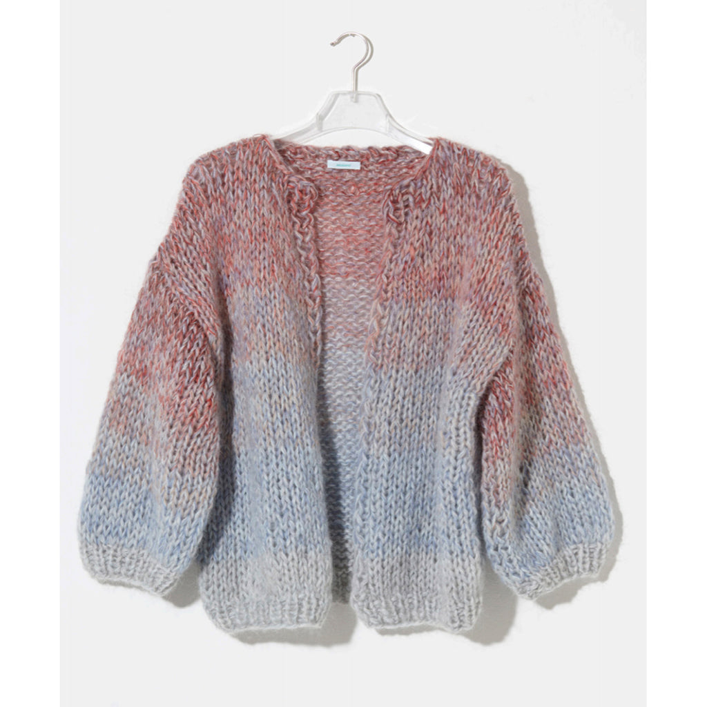 mohair multicolored big cardigan