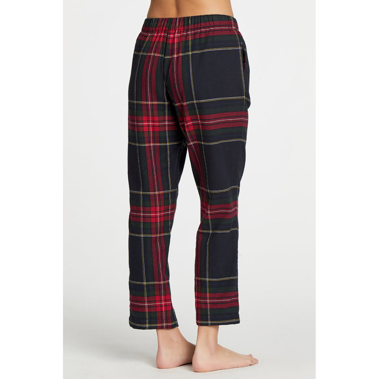 positano bottoms in tartan plaid