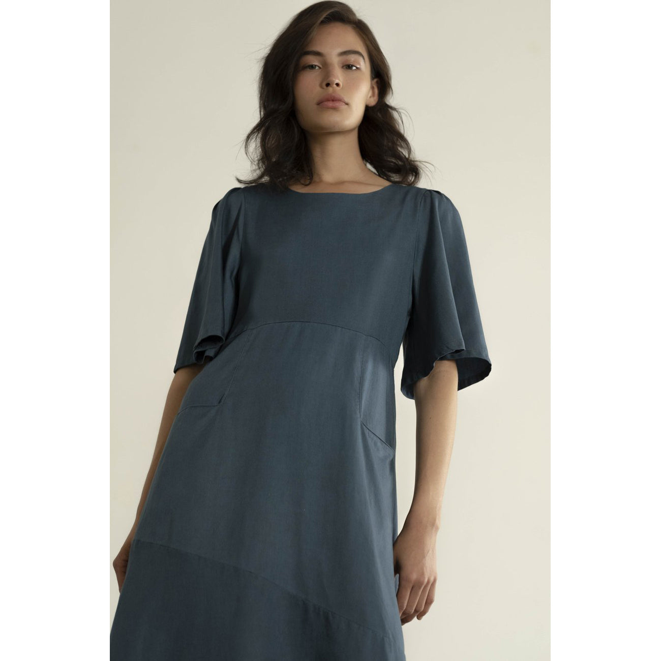 hailey dress in cerulean