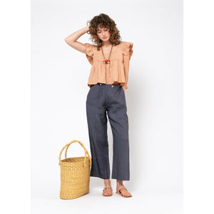 louise linen pant in iron