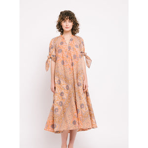 manasi dress in peach
