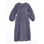 martina linen dress in iron