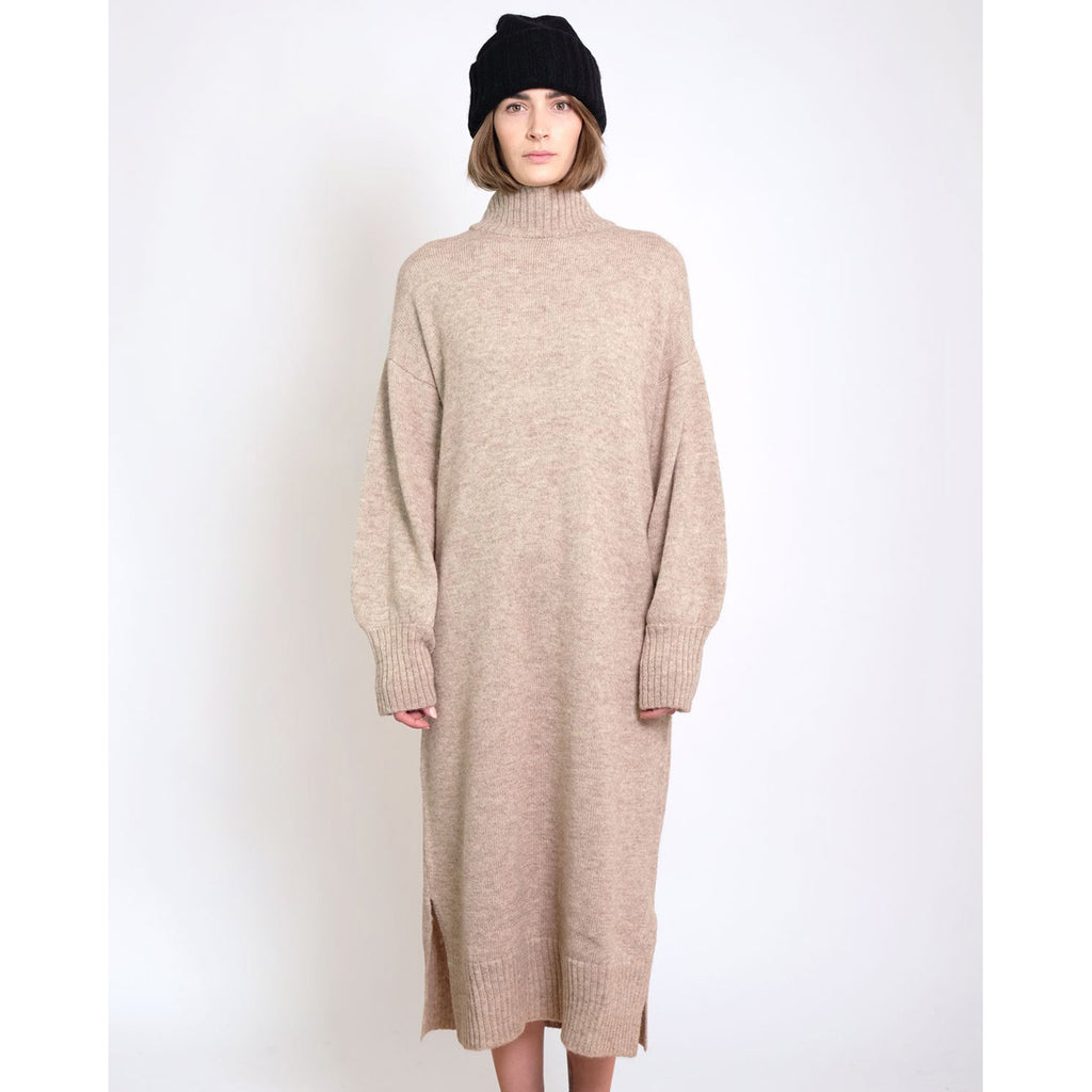 gia sweater dress in oatmeal