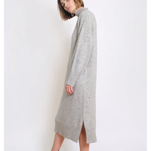 gia sweater dress in heather grey