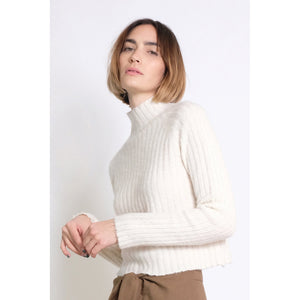isa rib top in cream