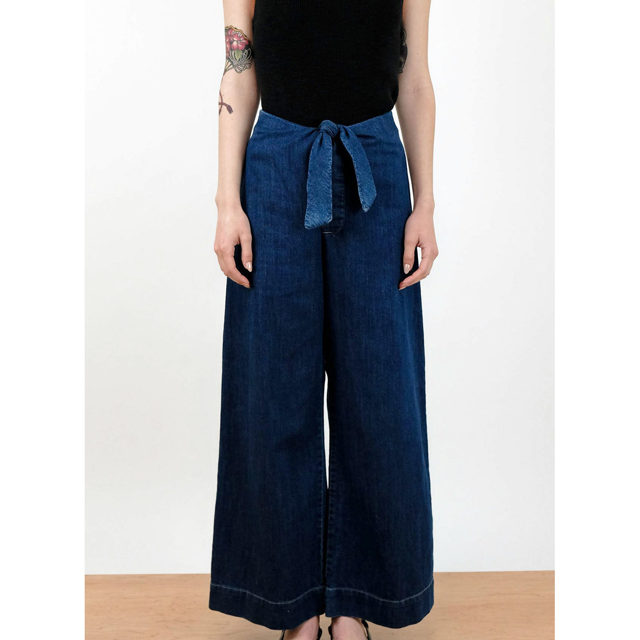 knotted sailor pant in true indigo