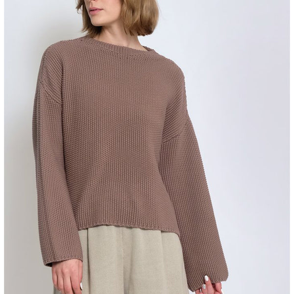 Micaela Greg Seed Sweater in Mushroom